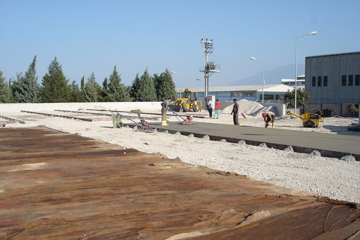 Industrial Flooring And Field Ground Concrete Construction For The Storage Building, Omsan Logistics Company, Bursa Facilities