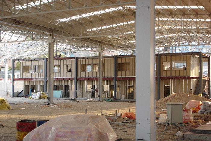 Omsan Lojistik Bursa Tesisleri Depo İnşaatı Depo ve İdari Bina Kaba + İnce işler İmalatı