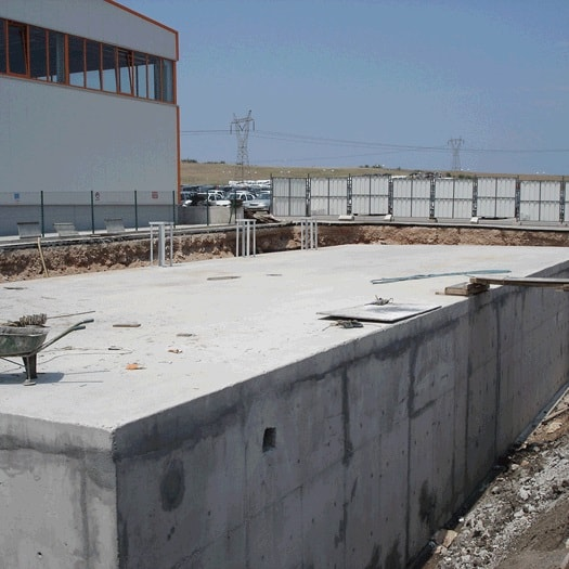 Omsan Logistics Bursa Facilities 800m3 Fire Water Storage Construction