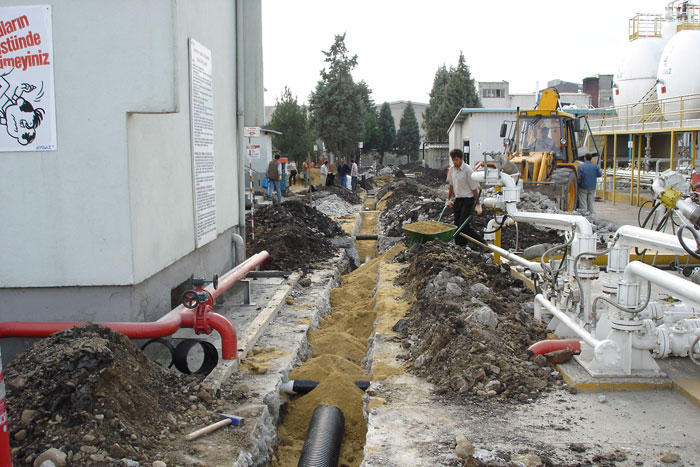 Aygaz Conditioning The Infrastructure Of Domestic & Chemical Waste Lines, Bursa Filling Plant