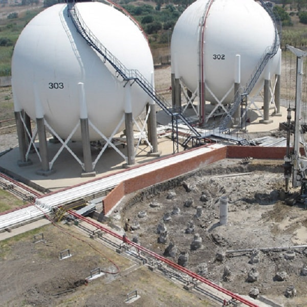 Foundation Constructions For Sphere Tank And Cylindrical Tank, İzmir Aliağa Filling Plant